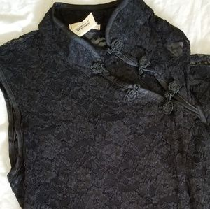BLACK LACE DRESS SZ S
